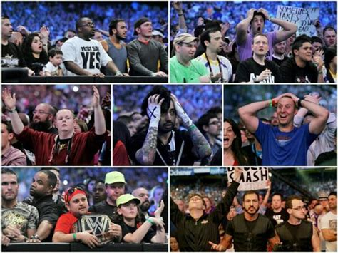 Undertaker Streak Meme - fans react with shock as the undertaker loses at wrestlemania