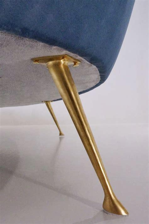 Ico Parisi sofa 1950`s style in new velvet upholstery