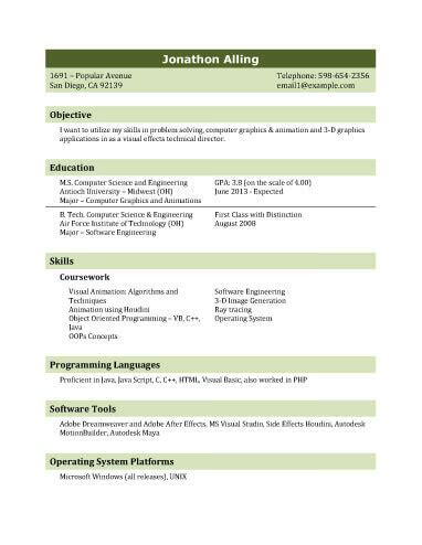 Best Resume Format To Download by 13 Student Resume Examples High And College