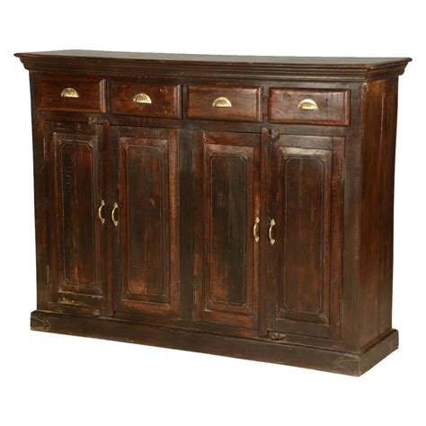 Wood Sideboard by Lincoln Reclaimed Wood 4 Door 4 Drawer Sideboard