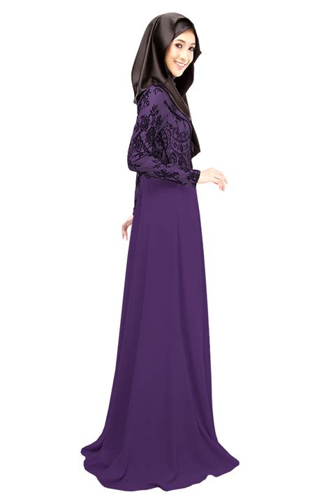 desain long dress muslimah muslimah elegant long dress style hijabiworld