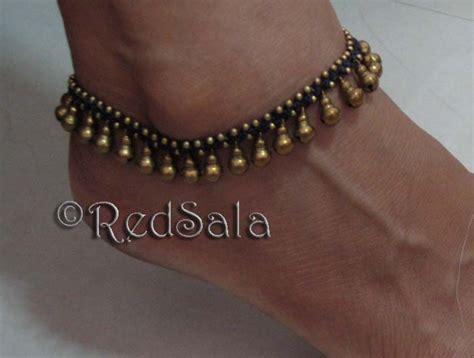 Handmade Ankle Bracelets - handmade thai anklet ankle bracelet brass jingle bells