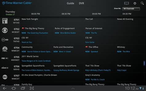 tv listings for android time warner cable releases official app makes your android tablet a remote and dvr