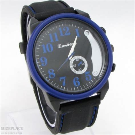 new dunking mens black blue large numbers