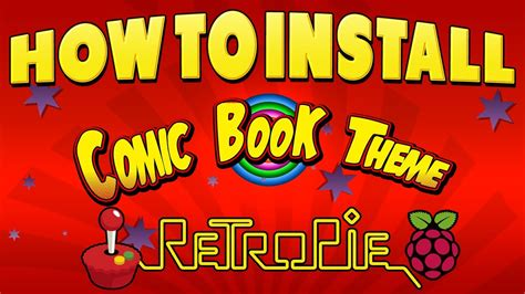 retropie themes not installing new retropie comic book theme how to install youtube