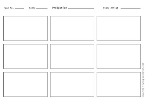 animation storyboard template storyboard template