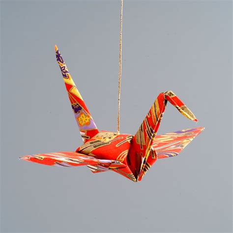 Origami Crane Ornament - origami animal ornaments paper animal