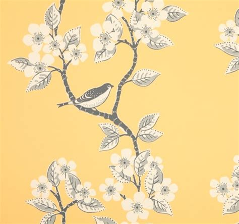 grey wallpaper yellow birds song birds wallpaper traditional wallpaper other