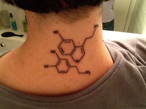 serotonin and dopamine tattoo dopamine and serotonin tattoos