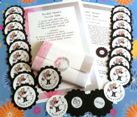 bridal shower large groups bridal shower trivia a breaker for small or large groups