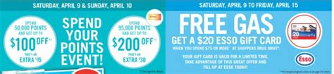 Redeem Shoppers Optimum Points For Gift Cards - free esso gas gift card at shoppers drug mart cash in your gift cards