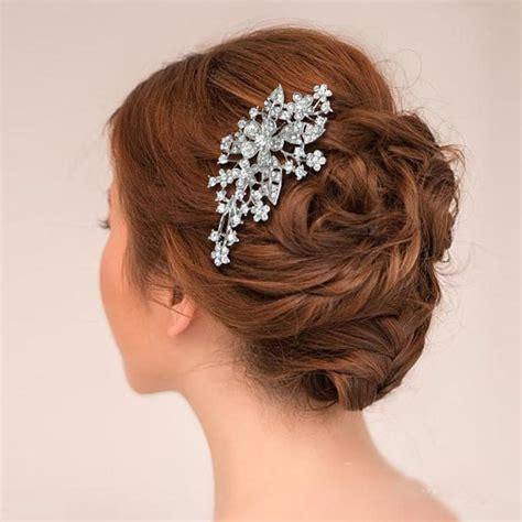 Vintage Inspired Wedding Hair Accessories by Bridal Swarovski Hair Comb Headpiece Vintage