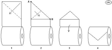 How To Fold Toilet Paper Fancy - toilet paper origami triangle