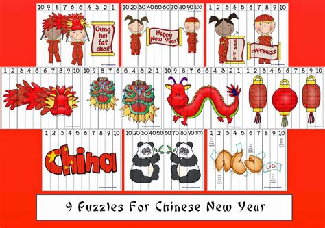 new year animal sequencing classroom freebies new year number puzzles
