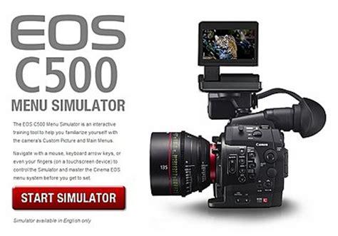 canon c500 menu simulator now available at dvinfo.net