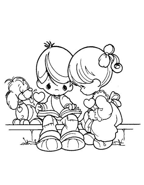 Precious Moments Coloring Pages Love | precious moments for love coloring pages gt gt disney