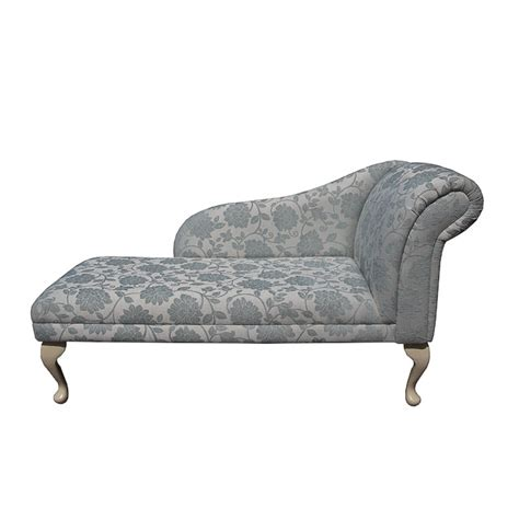 blue pattern chaise chaise longue chair upholstered in a floral blue fabric ebay