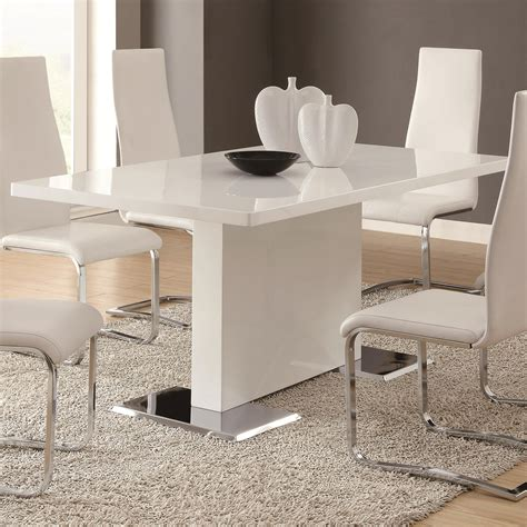 white dining table coaster modern dining 102310 white dining table with