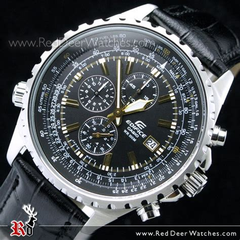 Casio Edifice Efr 527l 1avdf buy casio edifice chronograph mens leather ef 527l