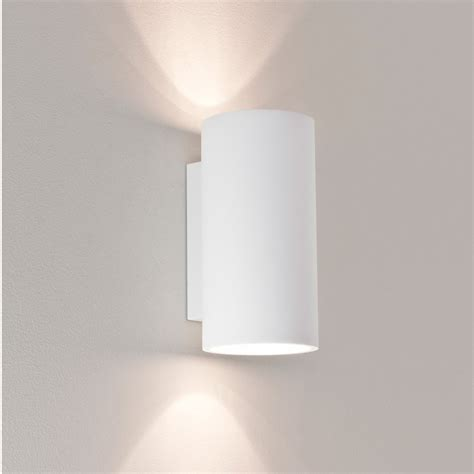 Up And Lighting Wall Sconce Astro 7002 Bologna 240 White Plaster Up And Wall
