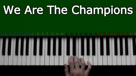 youtube pattern piano and keyboard we are the chions piano keyboard tutorial easy