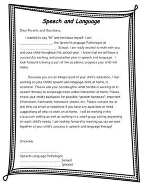 Parent Introduction Letter Student begin year introduction letter and iep meeting notice slip