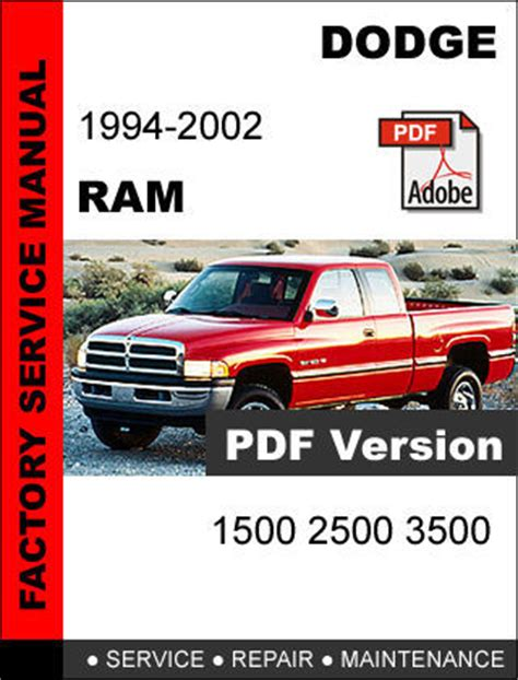 free service manuals online 2002 dodge ram van 1500 transmission control dodge ram 1994 1995 1996 1997 1998 1999 2001 2002 factory service repair manual service