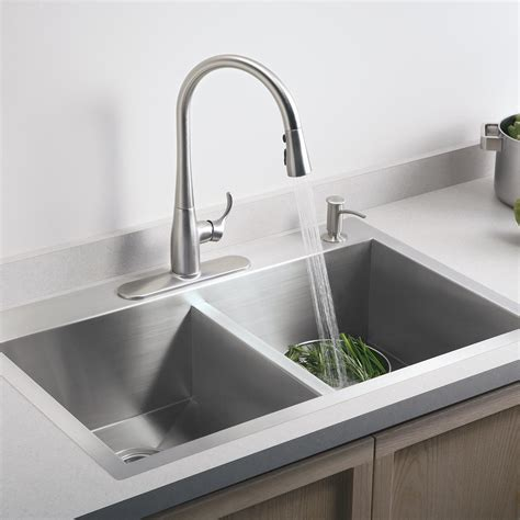 Kohler Simplice Single Hole kohler simplice single hole pull kitchen faucet chrome