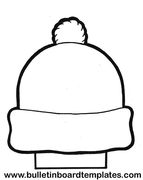 hat template free coloring pages of hat templates