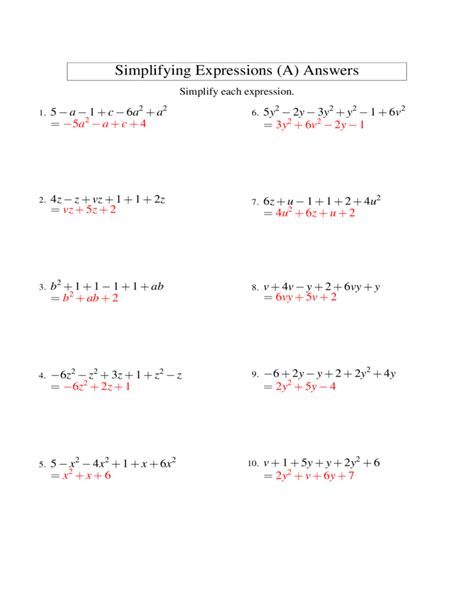 algebraic subtraction worksheets adding and subtracting algebraic expressions worksheet