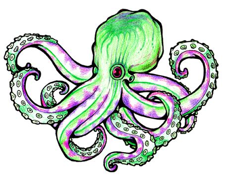 cartoon octopus tattoo cliparts co