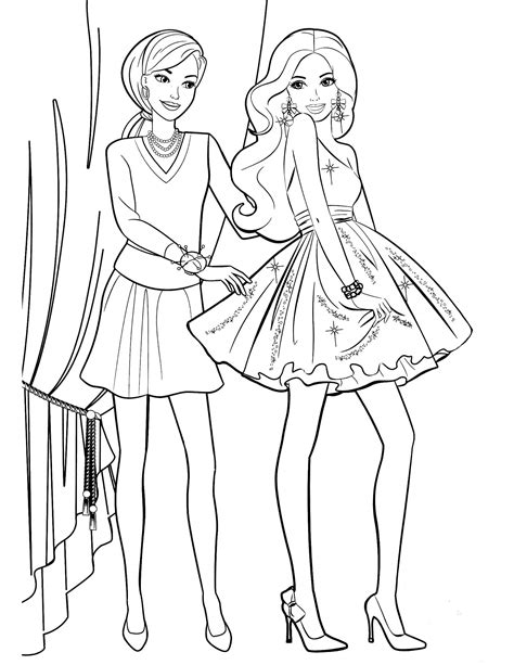 coloring pages of barbie and her friends barbie 39 coloringcolor com