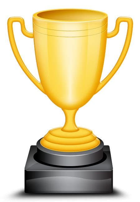 Vector Gold Trophy Cup Icon Trophy Website Template