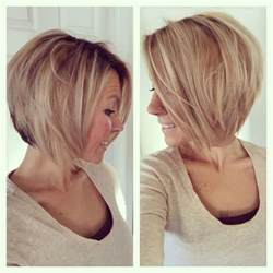 shoulder length haircuts longer in front and shorter in back 1000 ideas about layered angled bobs on pinterest