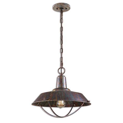 Traditional Pendant Lighting Arcada Traditional 1 Light Bronze Pendant 21974