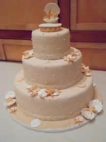 Starfish Decorations Sun Sea And Sugar Beach Themed Wedding Cakes