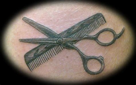 shears tattoos designs shears and comb tattoos