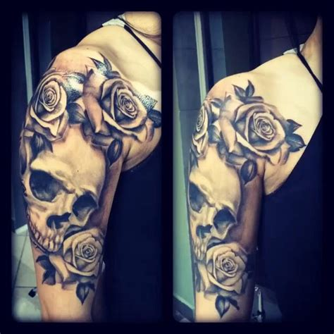 skull rose sleeve tattoo best 25 skull sleeve ideas on