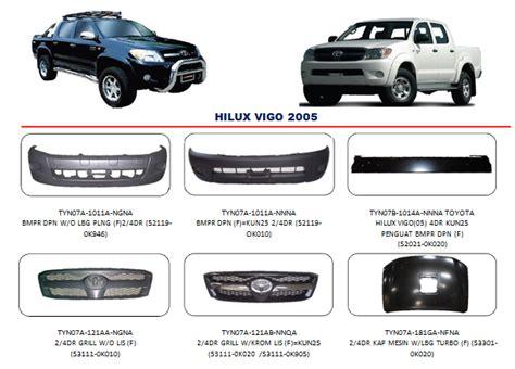 Accu Mobil Hilux bemper hilux vigo 2005 auto part mobil