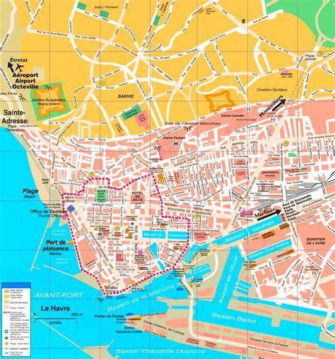 le havre map le havre tourist map