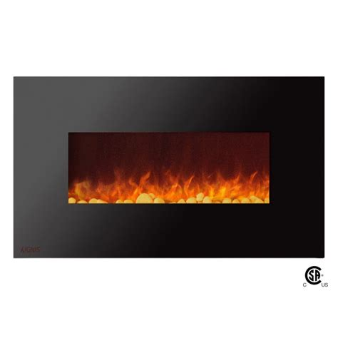 Fireplace Pebbles by Ignis Wall Mount Electric Fireplace With Pebbles Royal 36