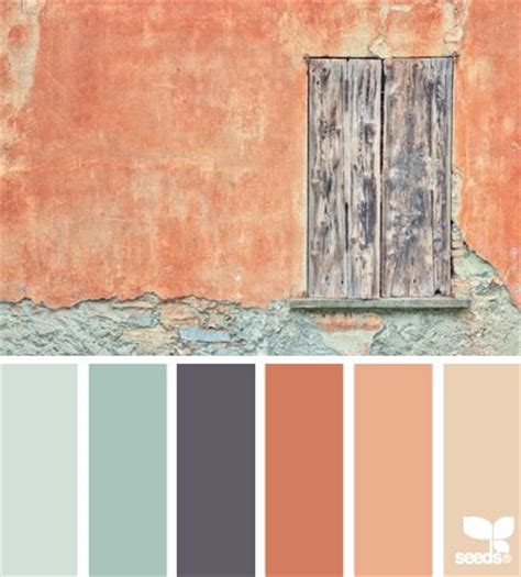 weathered hues of terra cotta cinnamon and watery dreamy aqua paired up with rich mahogany