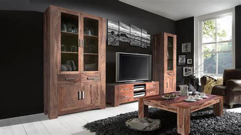 Wohnzimmermöbel Holz Massiv wohnzimmer set thor aus sheesham holz massiv mit couchtisch
