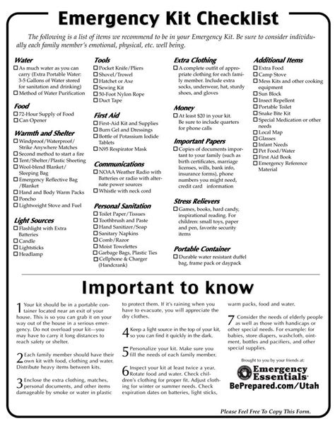 Best 25 Emergency Preparedness Checklist Food Ideas On Pinterest Emergency Preparedness Cross Family Disaster Plan Template
