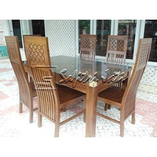 Kursi Makan Bunga Seribu meja makan seribu bunga jepara safitri jati furniture