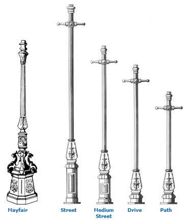 cast iron lighting columns tradtional lighting columns and restoration