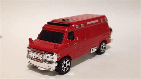 matchbox chevy van matchbox 95 custom chevy van 2017 f case youtube