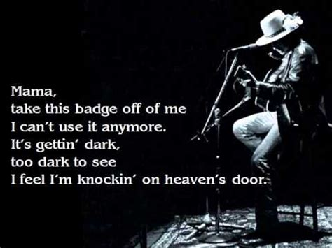 Bob Knocking On Heavens Door by Bob Knocking On Heavens Door Lyrics
