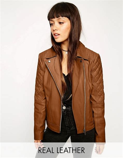 Asos Jacket In Quilt Detail asos asos leather biker jacket with multi quilt detail