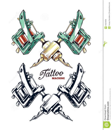 tattoo machine vector download tattoo machine vector stock vector image 44224930